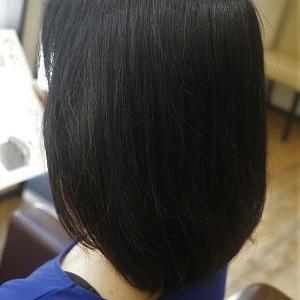 ハナヘナ2度染めでグレイカバー、地毛に馴染ませて。