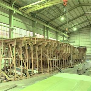 伊勢シップヤード 60FTダイビングボート ハルの製造(1)