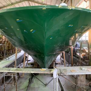 60ダイビングボート ハルの脱型完了