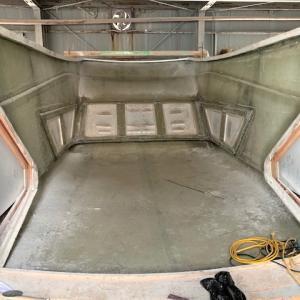 60FTダイビングボート ブリッジの脱型直前(6)