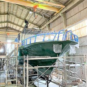 60FTダイビングボート 最終工程に入りました