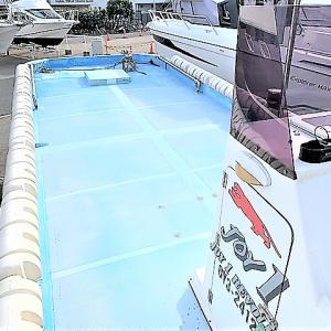 中古艇 30フィートカスタムポンツーンボート