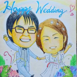 【似顔絵】結婚のお祝い
