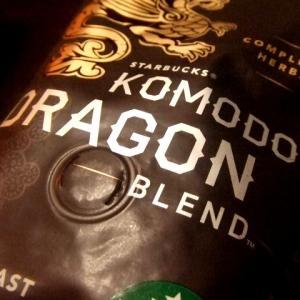スタバでコーヒー豆「コモドドラゴン」を買いました。