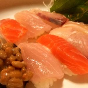 「握り寿司」を自分で・・・うん、おいしいです!!
