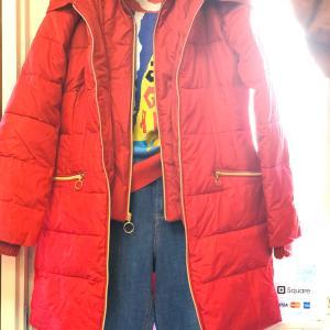 おおーっ!!!今季の冬アイテムでクリアなレッドはレア!?