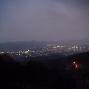 憩いの森公園の夜景的(広島県東広島市)
