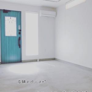 広々店舗スペースは白とブルーで 明るく爽やか かつ ふうわりと*°