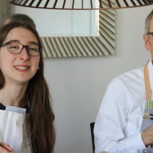 和食クラス(醤油ラーメン、羽根餃子、棒棒鶏と抹茶クリュームブリュレ) 2019年10月