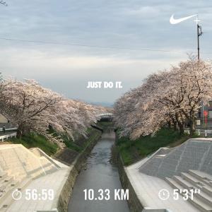 4/3の帰宅ラン(10km)