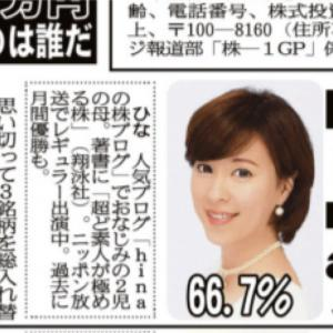 夕刊フジ『株-1グランプリ』現在1位です♡ アルマード・Enjin・BlueMeme