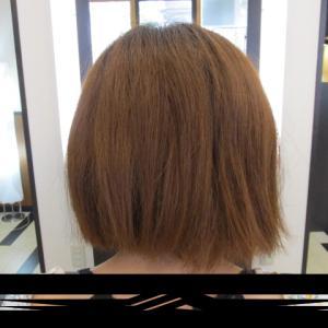ハイトーンの縮毛矯正(´・ω・`)