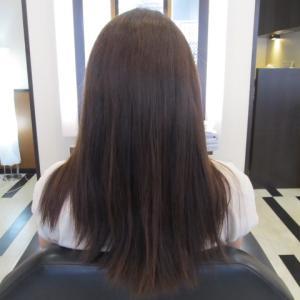 本日の縮毛矯正(´・ω・`) エステル還元の使い分け