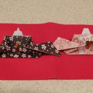 お雛様を折り紙で作ってみた