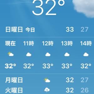 朝からエアコン