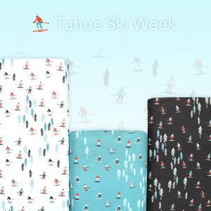 夏だけど....涼しげなスキー柄 Moda Fabrics Tahoe Ski Week