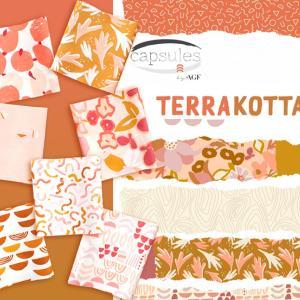 ユニークな幾何学模様生地 Art Gallery Fabrics Terra Kotta