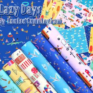 イギリスから届いたポップな生地 Lazy Days Collection