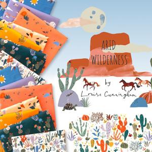 Cloud9 Fabrics のオーガニックコットン Arid Wilderness 入荷