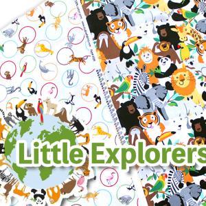 キッズにおすすめ生地・動物いっぱい Little Explorers