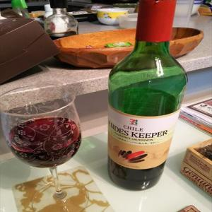 一杯の赤ワイン