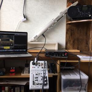 我が家の電子管楽器 ウインドシンセのシステムです
