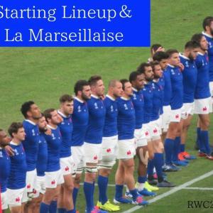 フランス選手紹介&国歌@RWC2019大分