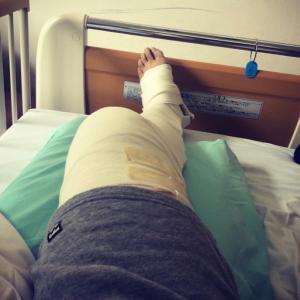前十字靭帯再建手術(半月板縫合も) 術2日目(入院3日目)