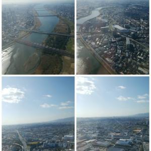 大阪を空の上から。。。