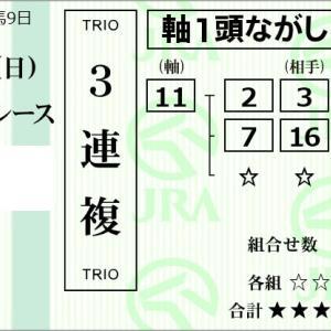 ★公開~購入馬券!★血統地味も人気の11番シングンバズーカ信頼!★中山3R完結予想