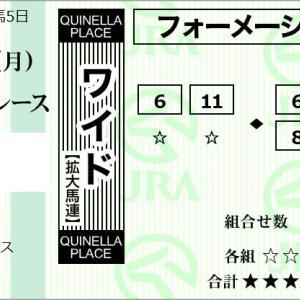 ★公開~購入馬券!★資金が尽きそうな中、ワイド馬券で!★京都10R完結予想