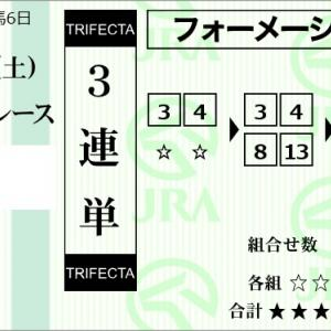 ★公開~購入馬券!★今日の運試しPART3~2枠2頭強力!★中山1R完結予想