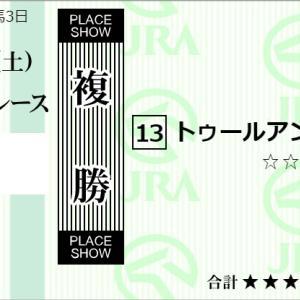 ★公開~複勝転がし購入馬券!★札幌で勝負!スタートは13番トゥールアンレール!★札幌1R完結予想