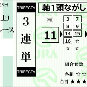 ★公開~購入馬券!★期待馬11番アライバルに期待!★東京5R完結予想