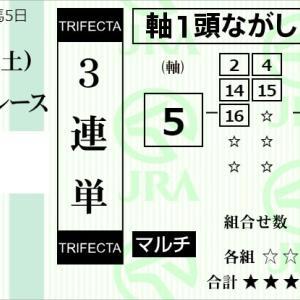 ★公開~購入馬券!★昨年のPOG指名馬の5番レガトゥスに託す!★東京12R完結予想