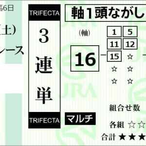 ★公開~購入馬券!★岩田望来騎手鞍上の最外枠16番オリンピッカーに期待!★中京5R完結予想