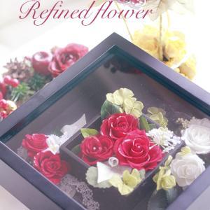 リクエスト作品 ブラックフレームに深紅な薔薇