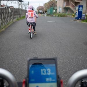 娘と早朝サイクリング