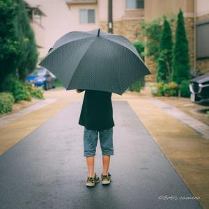 雨降りの息子