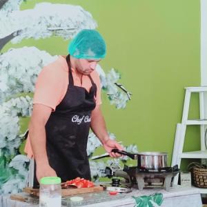 レバノン料理のデモンストレーション