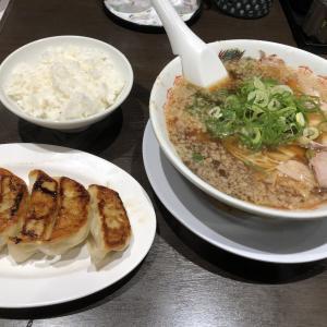 日曜日の夕食は、来来亭でラーメン餃子定食