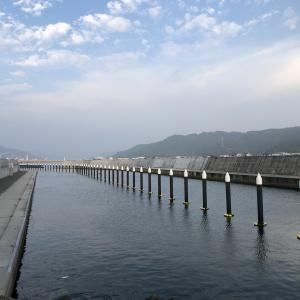 有田市港町地区の「かるも島」空撮