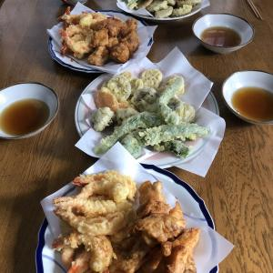 日曜日は家族で天ぷら!