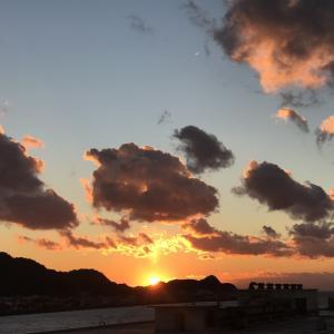 宮崎の鼻に沈む夕陽