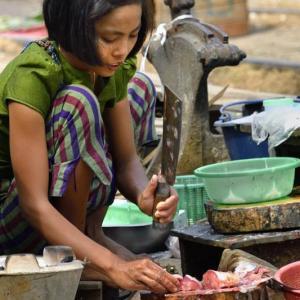 ミャンマー ・ レイルサイドストーリー  その26   もうひとつの線路市場 ⑥