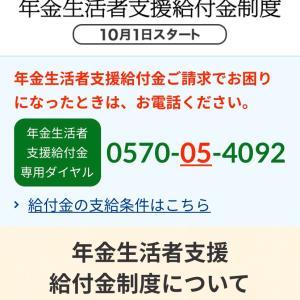 「年金生活者支援給付金制度」が10月から始まりました。