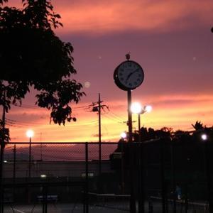 梅雨入りの週末、6/20(日)夕やけがとっても綺麗でした。