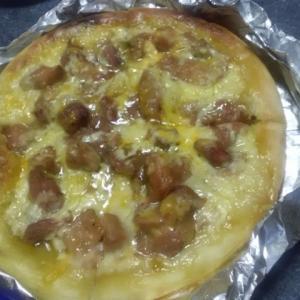 和風ピザとカルパッチョ