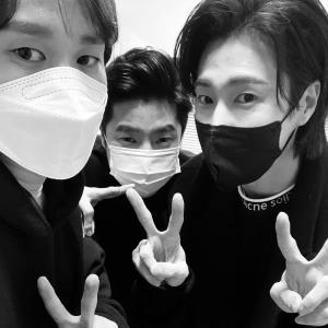 ユノと3ショット…Comeback boys!