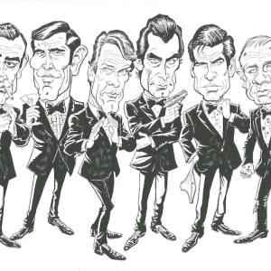 BANGER!!!第四弾『歴代俳優の『007』デフォルメ・イラスト・コレクション!愛ゆえにイジりたくなる?』
